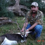 "Ken Flanagen and his 22"" Black Buck"